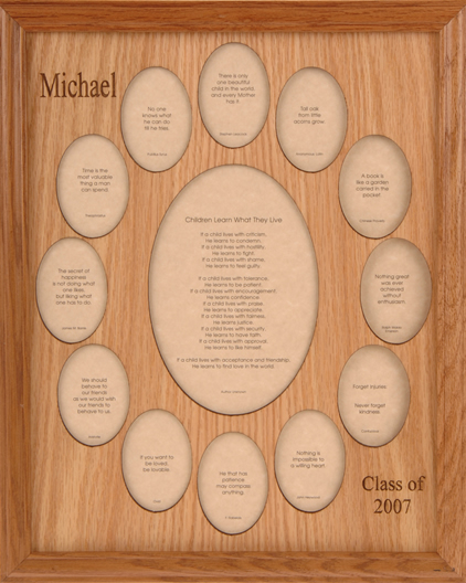 Whispering Woods Gifts~Custom-cut photo mats and name frames